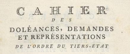 Read more about the article Les doléances